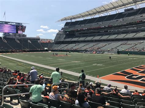 section 132 f paul brown stadium section 132 rateyourseats com