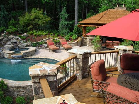 pool and patio designs back deck and patio design