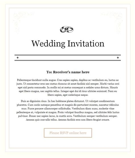 Email invitation for marriage to the colleagues music