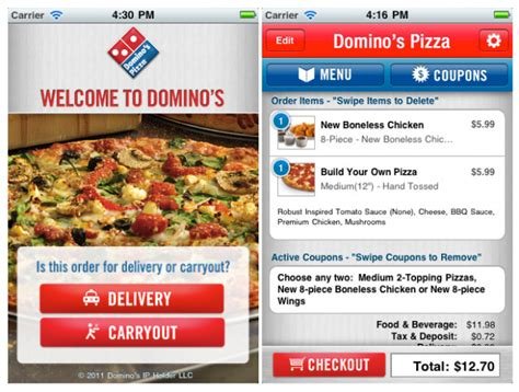 domino pizza app domino s pizza app released