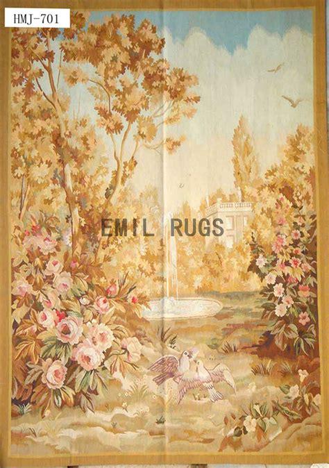 Handmade Tapestries - wool vintage handmade aubusson gobelin 4 15 x 5 85