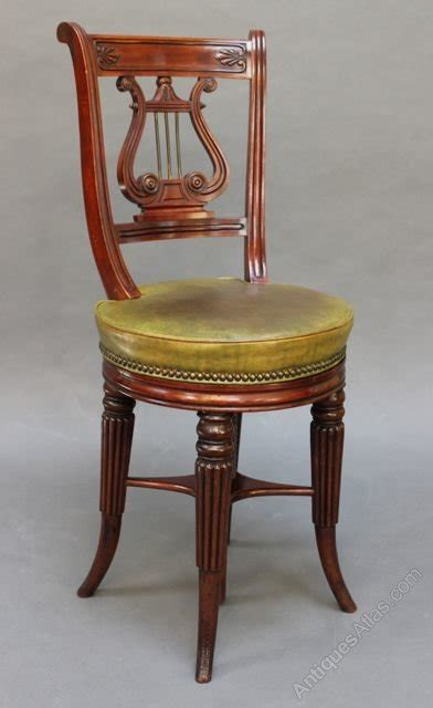lyre back chairs antique regency mahogany lyre back harpist piano chair antiques