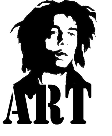 bob marley stencil by artpulse on deviantart