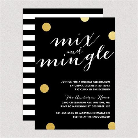 mix and mingle mix and mingle invitation by fineanddandypaperie