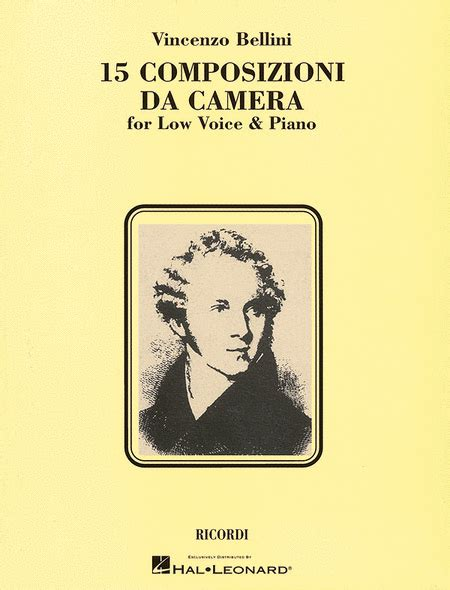 donizetti composizioni da 15 composizioni da sheet by vincenzo bellini