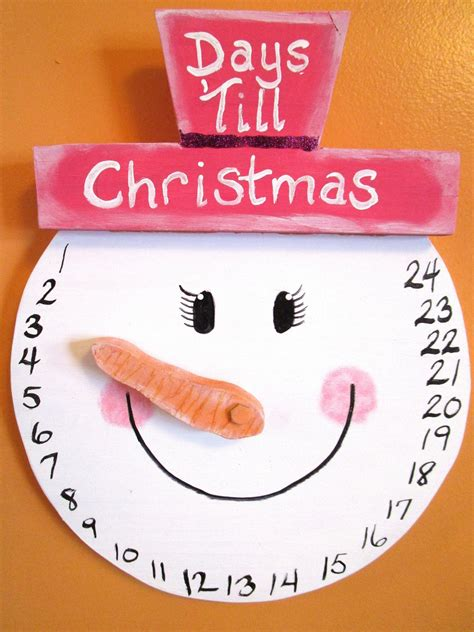 snowman girl countdown to christmas wall hanging by gr8byz