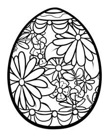 easter egg coloring page easter egg coloring pages bricolages de p 226 ques