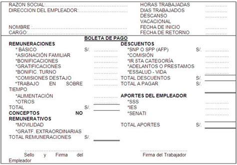 boleta de pago peru contabilidad organizacional p 225 gina 2 monografias com