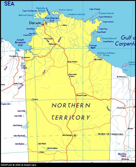 map northern australia map of northern territory australia maps and atlas