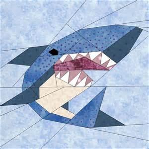 shark by janeenvn quilting pattern