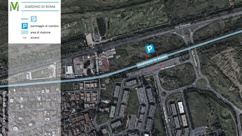 giardino roma la metrovia nuova fermata giardino di roma m9