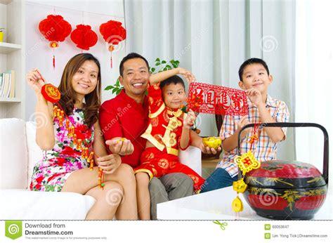 family celebrates with new years asian family stock photo image 60053647