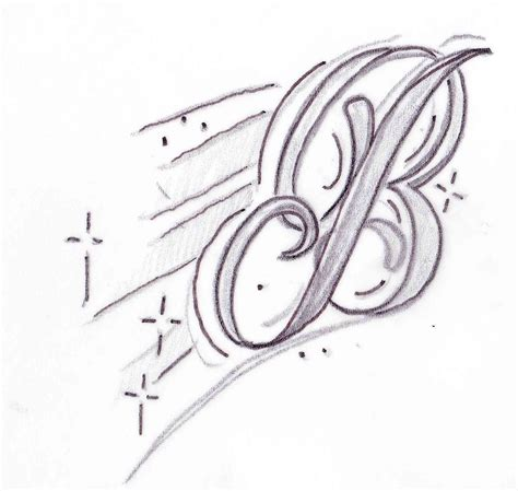 the letter b tattoo designs butler b design