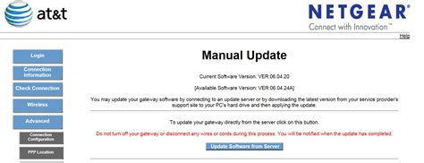 netgear 7550 software ver 06 04 24a upgrade at t community