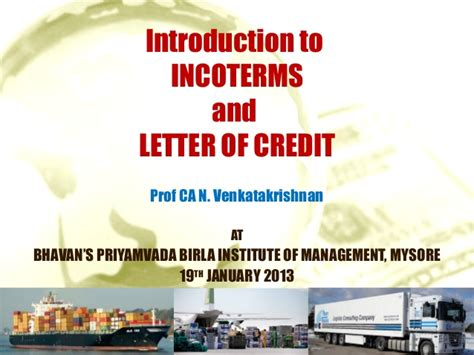 Letter Of Credit Utilisation Introduction To Inco Terms And Lcs 5