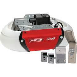 Garage Door Opener Craftsman Craftsman 53925 3 4 Hp Garage Door Opener Drive