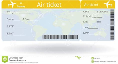 Airplane Ticket Template plane ticket template beepmunk