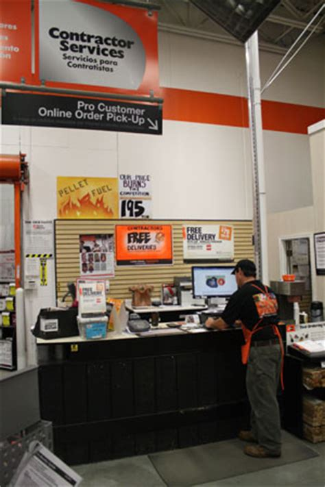 home depot pro desk the home depot first for pro home construction improvement