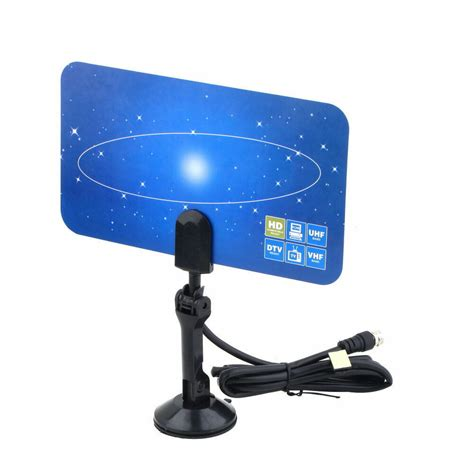 digital indoor tv antenna hd vhf uhf flat design high gain