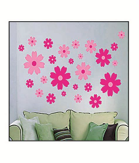 pink flower wall stickers pindia brown pink jerry wall sticker best price in india on 14th december 2017 dealtuno