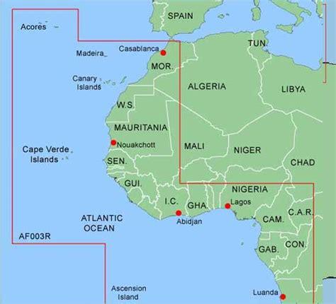 islas canarias y africa mapa bluechart atlantic garmin