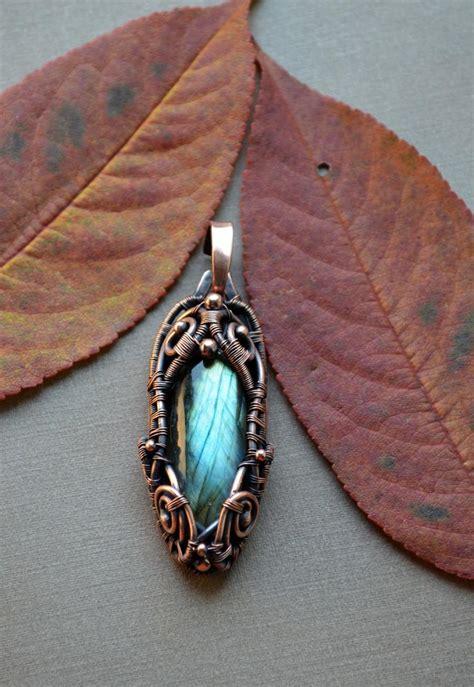 Kalung Batu Labradorite Wire Wrap labradorite pendant wire wrapped jewelry wire wrapped pendant wirewrapped blue labradorite