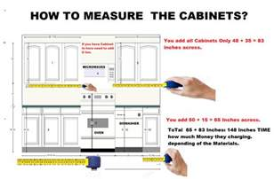 How To Measure Kitchen Cabinets | how to measure kitchen cabinets quot custom cabinet none