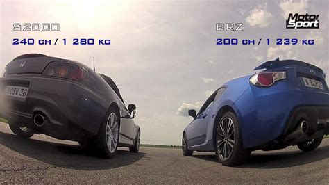 subaru brz vs scion frs vs toyota gt86 drag race subaru brz vs honda s2000 motorsport youtube