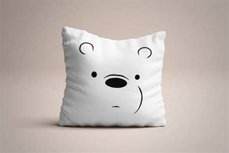 We Bare Bears Pillow we bare bears inspired handpainted throw pillow