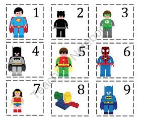 printable superhero number cards 17 best images about superheros theme on pinterest