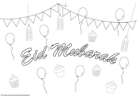 free coloring pages free printable eid greeting card for free coloring pages of eid mubarak