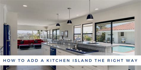 how to add a kitchen island how to add a kitchen island the right way lars