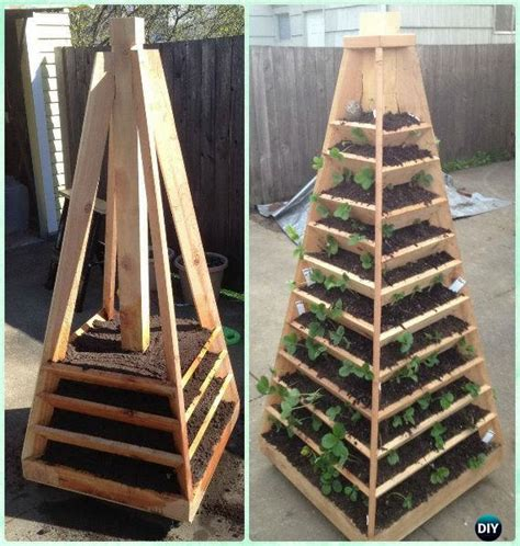 10 space saving strawberry garden gardening planter ideas