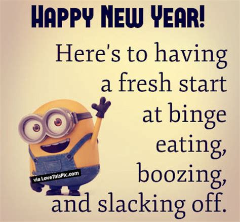 happy new year funny minion quote pictures photos and