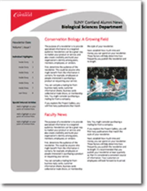 department newsletter templates newsletters suny cortland