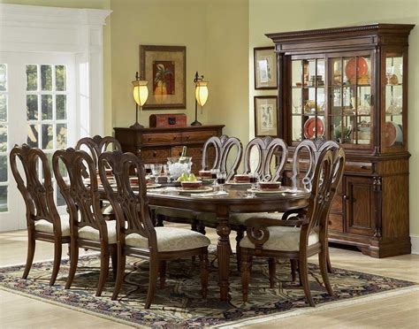 Dining Room Sets With Hutch Mahogany Finish Classic Dining Room Table W Optional Items