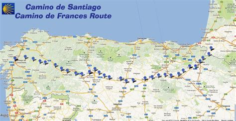 map camino de santiago map of camino frances s camino de santiago pilgrimage