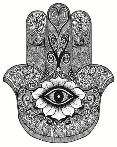 saraswati designs hamsa hand