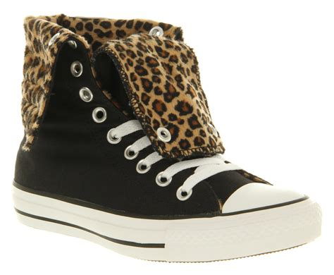 office snow leopard converse converse ctas x high black leopard faux fur office girl