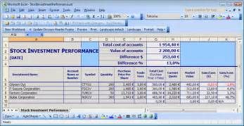 Sle Investment Portfolio Templates by Simple Stock Portfolio Management By Excel Guidance