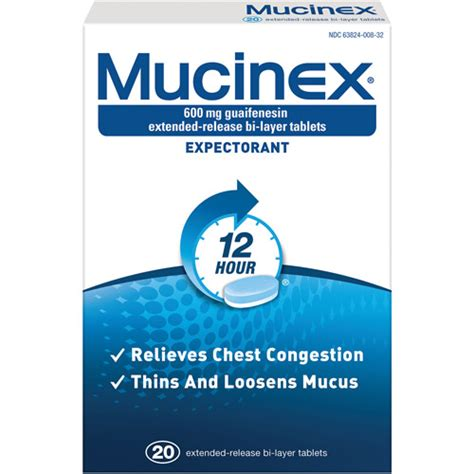 Top Layer Dm mucinex 600 mg guaifenesin extended release bi layer tablets expectorant 20 ct walmart