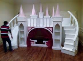 Play House Bunk Beds New Custom Princess S Castle Loft Bunk Bed Indoor Playhouse Free Dresser Ebay