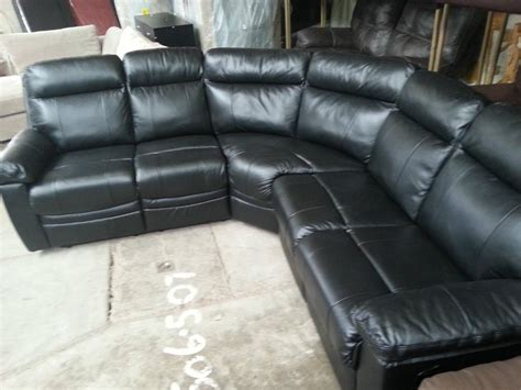 Real Leather Recliner Sofas Argos Paulo Black Real Leather Recliner Corner Sofa Moseley Birmingham