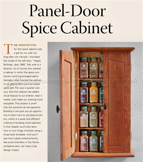 Cabinet Door Spice Rack Plans 23 Model Woodworking Plans Spice Cabinet Egorlin
