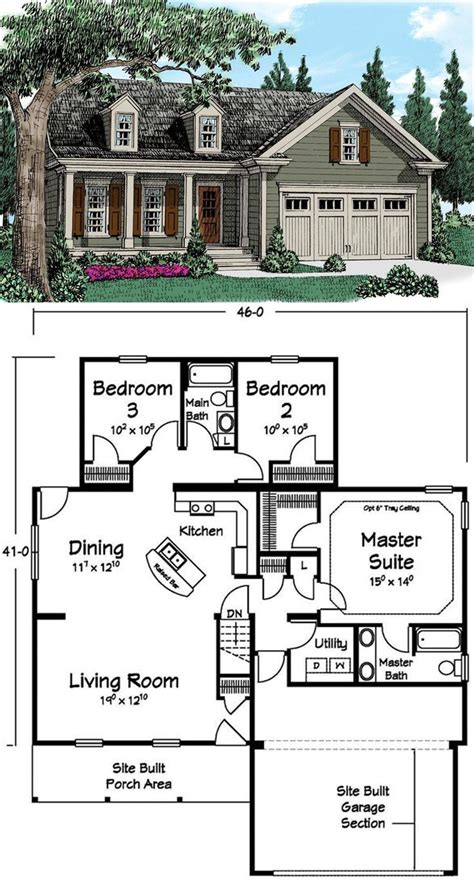 house plans for seniors numberedtype