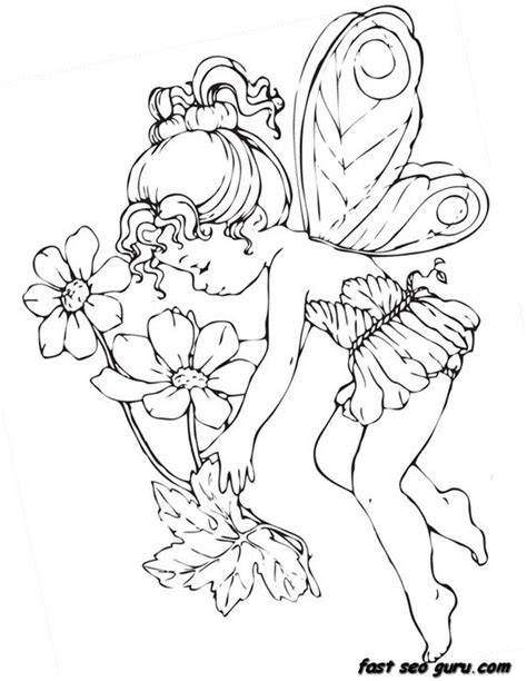 Printable Beautiful Cute Fairy Coloring Pages Printable Free Beautiful Coloring Pages
