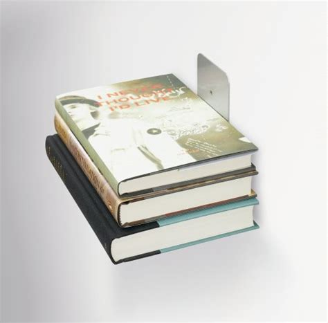 umbra conceal floating book shelf umbra conceal wall book shelf small silver way cool