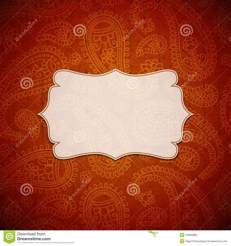 indian pattern frame frame in the indian style stock vector image 43969880