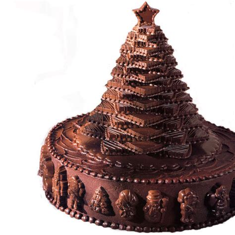 chocolate christmas tree cake wilton