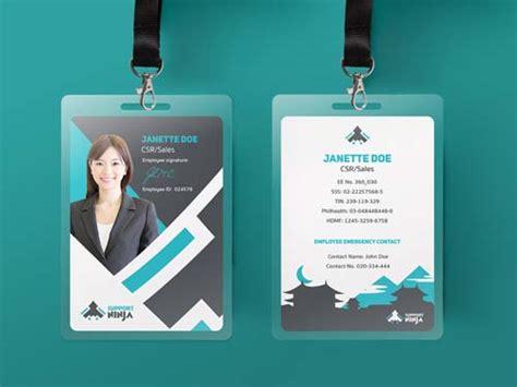 cool id card design template 25 contoh desain id card keren untuk inspirasi grafis